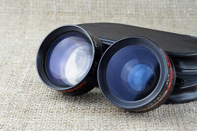 Petri AUX Auxilary TELE WIDE angle lens 1:1.8 45mm for camera + case