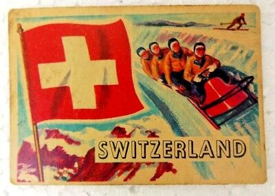 Switzerland 1956 Topps Flags Of The World Printed In England Collectibles Old
