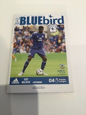 Cardiff City v Burnley 28.09.18 Official Matchday Programme