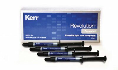 Kerr Revolution Formula 2 Flowable light cure composite A3.5 4 pack 29496