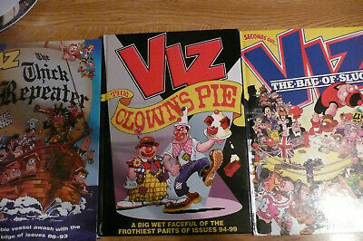 3 x Viz Annuals The Thick Repeater/The Clown's Pie/The Bag Of Slugs ALL LIKE NEW