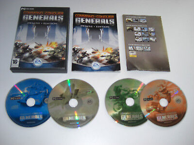 COMMAND AND & CONQUER C&C GENERALS DELUXE Pc Cd Rom Inc ZERO HOUR Expansion Pack