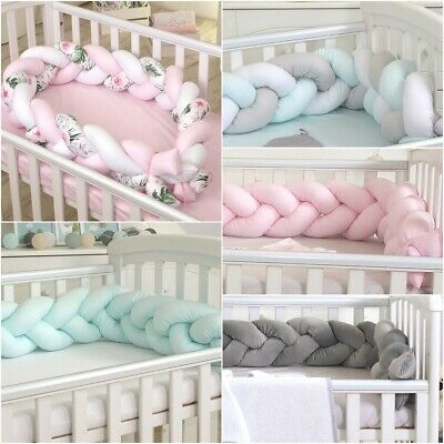 Bumper for Baby Cot Cotbed Crib Protector- 210cm x 16cm high- Made in EU