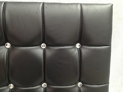 """Top Quality Diamond.faux  Leather Headboard  20"""", Height & ,3ft,4ft, 4ft6, 5ft"""