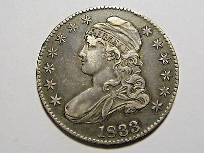1833 50c Capped Bust Silver Half Dollar VF EF XF old type coin