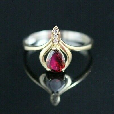 Turkish Handmade Jewelry Sterling Silver 925 Ruby Men's Ring 10,5 MD