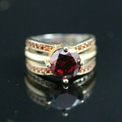 Turkish Handmade Jewelry Sterling Silver 925 Ruby Men's Ring 7,5 MD