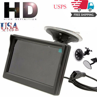 "U 800*480 TFT LCD HD Screen Monitor For Car ear everse Backup Camera 5"" M"