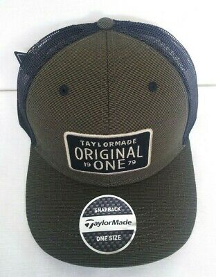 ac382fe7f7e TaylorMade Lifestyle Original One Trucker Golf Hat NEW 2019 Adjustable Olive