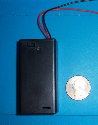 2x Battery Holder, holds 2 AA Batteries, Case ON/OFF switch With screw USA