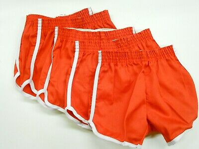 """LOT 5 Pair NOS '70's-'80's Youth Gym/Team/Workout Shorts. S. 20""""-22"""" Waist"""