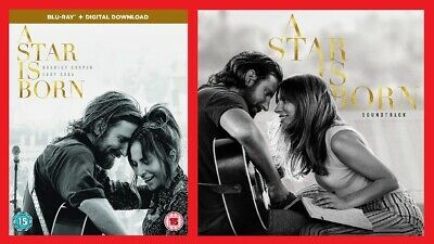 A Star is Born Blu-ray and Soundtrack CD Pack Bradley Cooper, Lady Gaga
