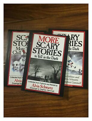 Scary Stories To Tell In The Dark Set Of 3 Books New Gift Premium Alvin Schwart