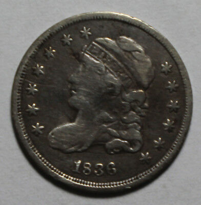 1836 Capped Bust Half Dime Small 5C MP307