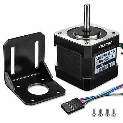 Stepper Motor, Quimat Nema 17 Stepper Motor Bipolar 2A 64oz.in(0.45Nm) 38mm