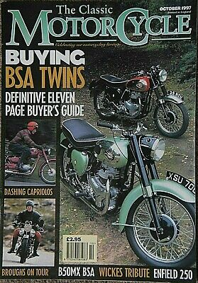 Classic Motorcycle Oct 1997  BSA Twins Buyers Guide, CAPRIOLO, JAWA, ENFIELD 250
