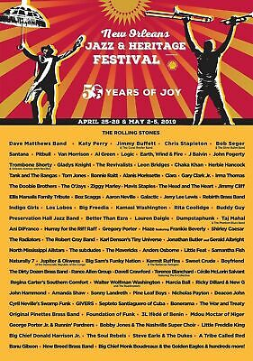 Two Tickets To The ROLLING STONES at JAZZ FEST! Thursday May 2nd, 2019