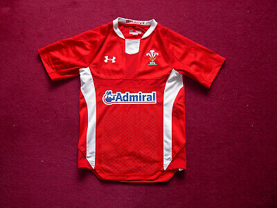 Under Armour Wales Rugby Union Shirt/top/jersey/youth small