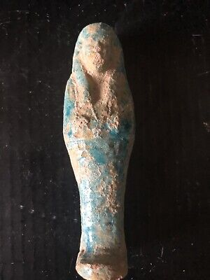 Rare Ancient Egyptian Faience Amulet Shabti 26th DYN 680 Bc