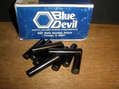 "7/16"" X 2-1/2"" Dowel Pins Blue Devil Black Oxide Ebony Finish USA Made (Qty.11)"