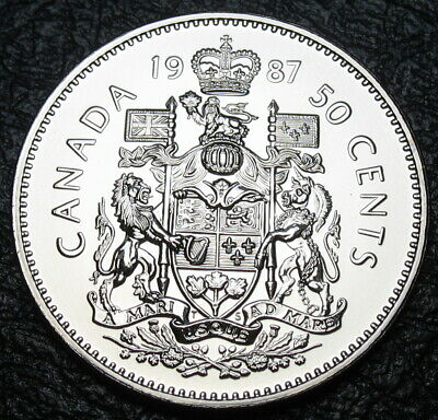 RCM - 1987 - 50-cents - Coat of Arms - Specimen - Uncirculated