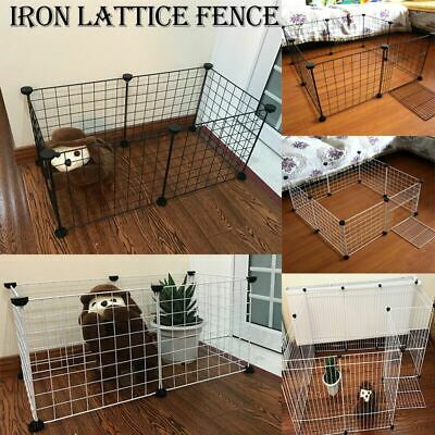 Pet Foldable Playpen Iron Cage Fence Puppy Kennel House Exercise Kitten Space