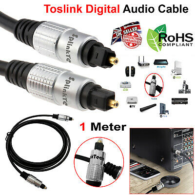 1M OPTICAL CABLE DIGITAL AUDIO LEAD TOSLink SPDIF DTS SURROUND SOUND TV SKY PS4