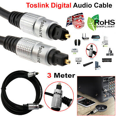 3M OPTICAL CABLE DIGITAL AUDIO LEAD TOSLink SPDIF DTS SURROUND SOUND TV SKY PS4
