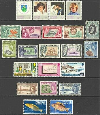 Pitcairn Islands Mini-Collection of 25 Singles, 1 Strip, & 2 SS Unused Stamps