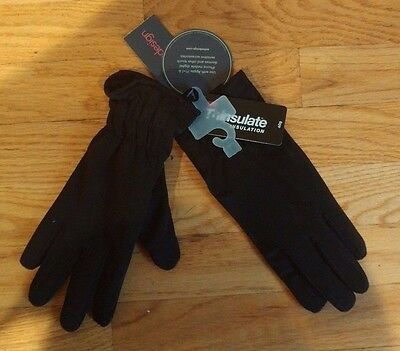 ECHO TOUCH* Thinsulate 40g Leather/Nylon iPhone Gloves in Black (Size L)