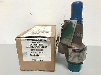 "New Dresser Consolidated 78E 2478E-1-31-DA 1"" Relief Valve 200PSI Set Pressure"