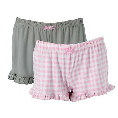 New PJ Couture Women's Knit Sleep Shorts with Ruffle Hem (2 Pair Pack)