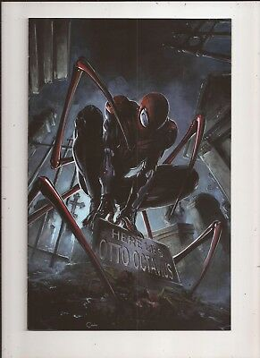 SUPERIOR SPIDER-MAN #1 Clayton Crain VIRIGN Variant Marvel 2018 COA LTD to 750