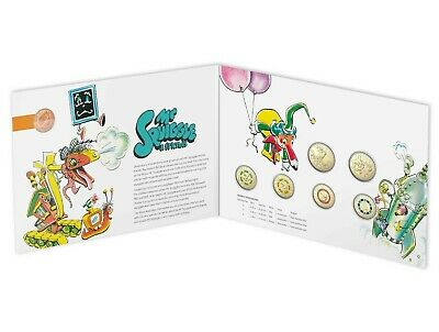 2019 Mr Squiggle 7 Coin Collection $1 One + $2 Two Dollar Coins & 1 Cent UNC