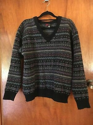 vintage pure wool retro jumper size M