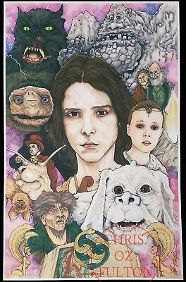 The Never Ending Story Movie 11x17 Poster Print Signed by Artist Chris Oz Fulton