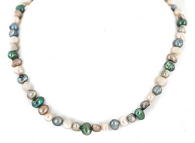 $350Tag Certified Authentic Navajo Cultured Pearl Native American Necklace 24515