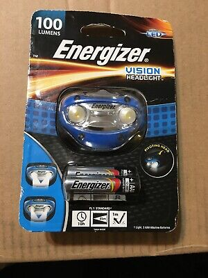 Energizer LED Vision Headlight - 100 Lumens - HDA32EW new BATTERIES INCLUDED