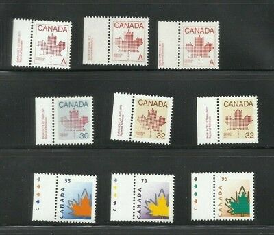 Maple Leaf Singles Lot  Various Issues  See Scan  MNH