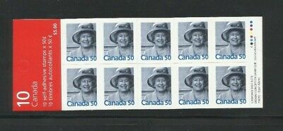 #2075a  QEII Booklet 301a  5 Roulettes  MNH