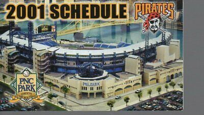 2001 PITTSBURGH PIRATES POCKET SCHEDULE - 1st YEAR PNC PARK