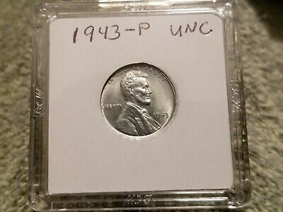 1943-P Lincoln Steel Wheat Cent Penny  1 penny #1, Uncirculated.