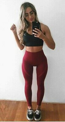 9c9bf8f444ed6e Gymshark Energy Seamless High Waisted Leggings Size Small In Beet  (magnificent)