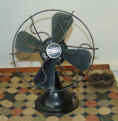 Antique 1920's WESTINGHOUSE Oscillating Fan WHIRLWIND Untested #420550-B