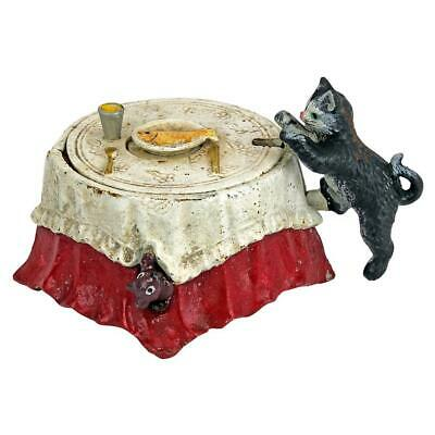 Design Toscano Fish For Cat Die-Cast Iron Mechanical Coin Bank