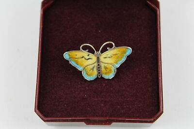 Stunning Boxed .925 STERLING SILVER Hroar Prydz Norway Butterfly Brooch (3g)