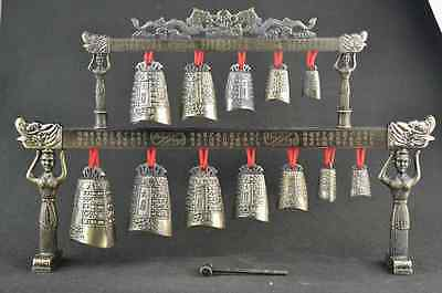 Rare china Old Classical Musical Instrument bronze Chime bells statue