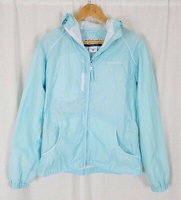 Columbi Girls Blue All Weather Rain Jacket Youth 18 20 Mesh Lined Windbreaker
