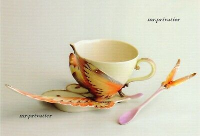 "Franz Collection Porzellan - ""Schmetterling"" Set #1: Tasse, Untertasse, Löffel"