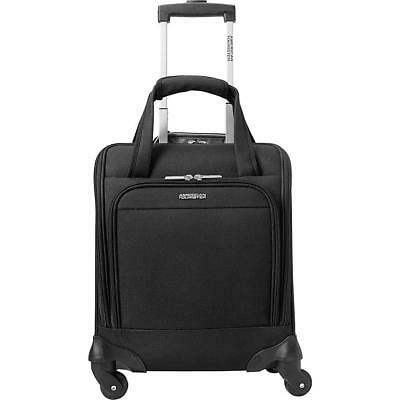 """NEW American Tourister Meridian NXT 16"""" Carry-On Spinner Underseater Tote, Black"""
